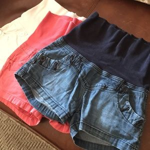 Maternity shorts- all 3 pairs